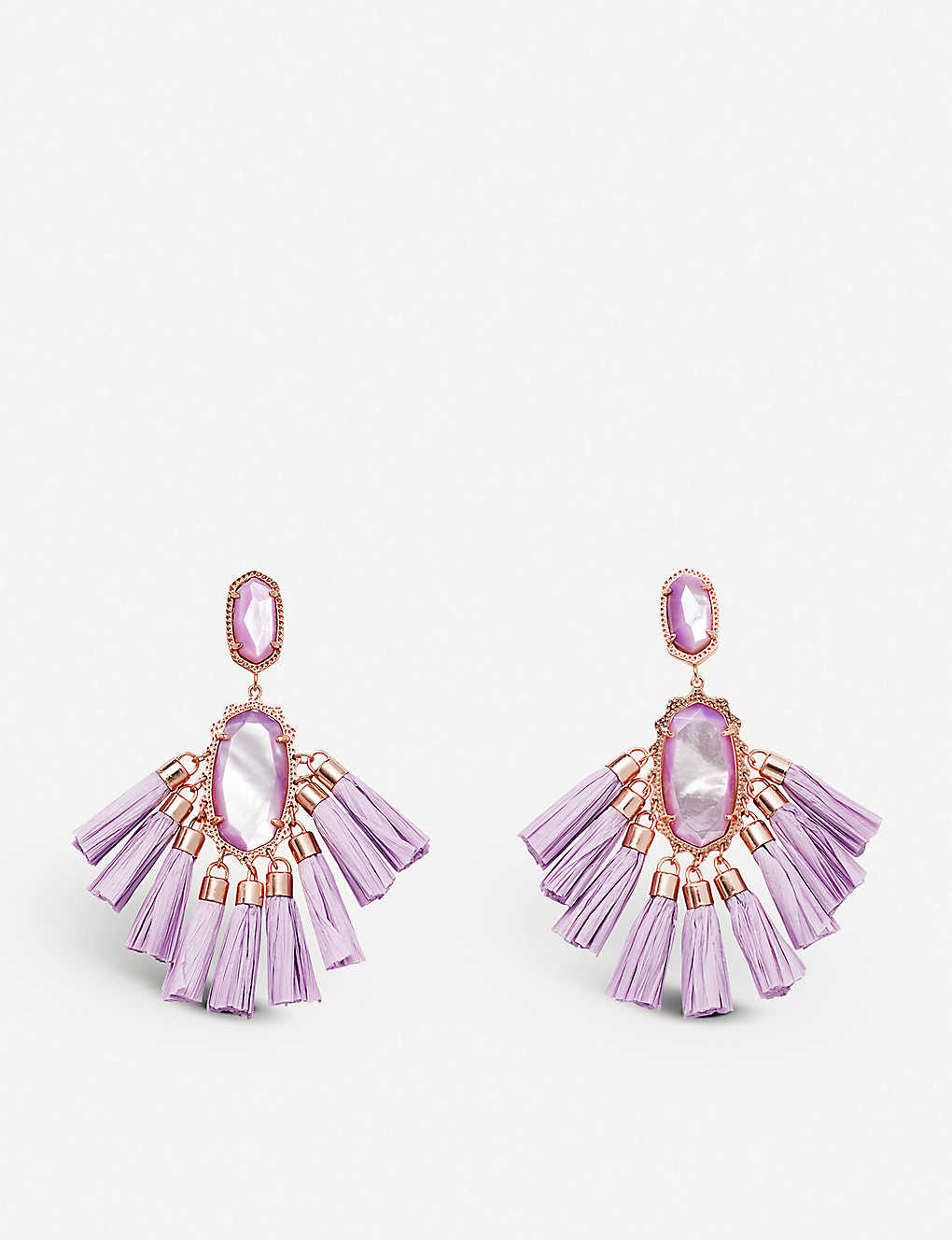 740e30049a4e6 KENDRA SCOTT - Kristen 14ct rose gold-plated and mother-of-pearl ...