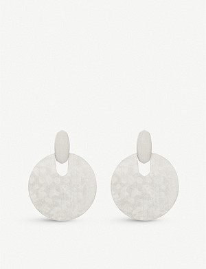 KENDRA SCOTT Didi rhodium-plated earrings