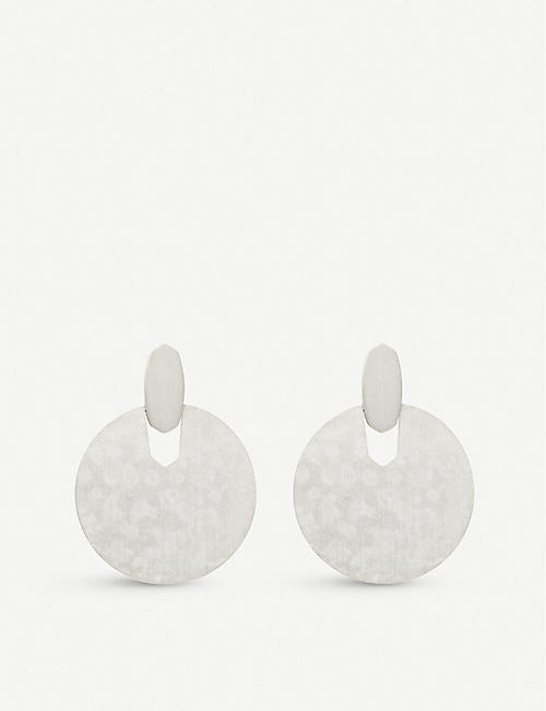 KENDRA SCOTT: Didi rhodium-plated earrings