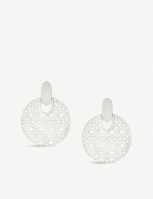 KENDRA SCOTT Didi filigree 14ct gold-plated earrings