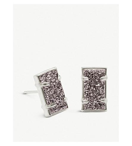e4b48d0e5 KENDRA SCOTT Paola rhodium-plated brass and platinum drusy earrings