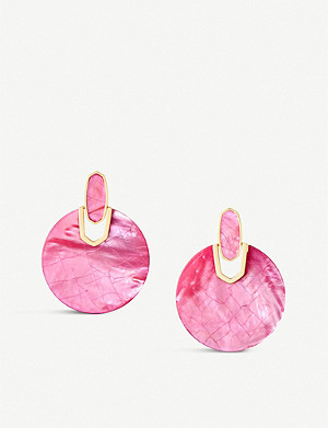 KENDRA SCOTT Didi pearlescent 14ct gold-plated earrings