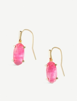 KENDRA SCOTT Lemmi pearlescent 14ct gold-plated drop earrings