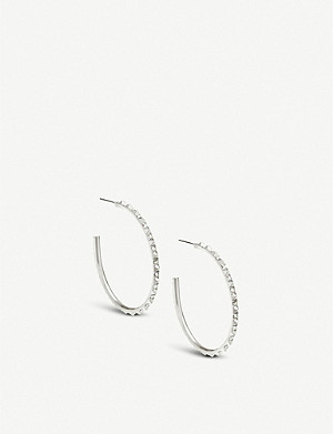 KENDRA SCOTT Veronica silver-plated hoop earrings