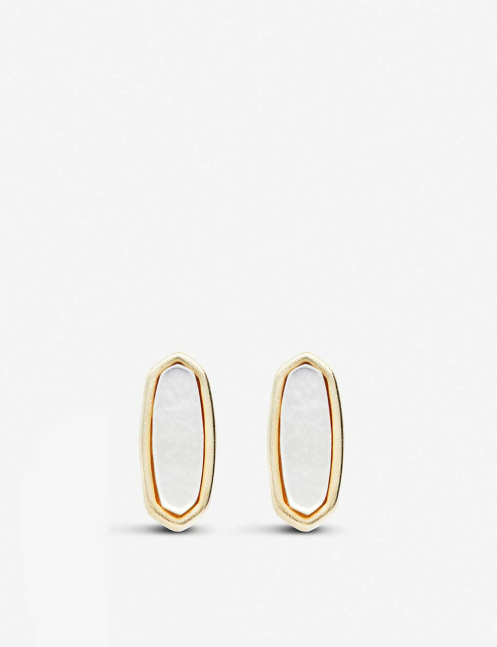 c21beb206 KENDRA SCOTT - Mae 14ct gold-plated stud earrings in ivory pearl ...