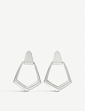 KENDRA SCOTT 14ct Paxton silver-plated brass drop earrings