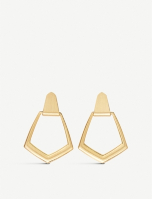 KENDRA SCOTT 14ct Paxton rose-gold plated brass drop earrings