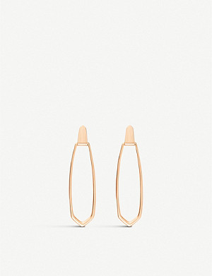 KENDRA SCOTT Patterson 14ct rose-gold plated brass drop earrings
