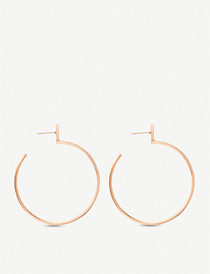 KENDRA SCOTT Pepper rose gold hoop earrings