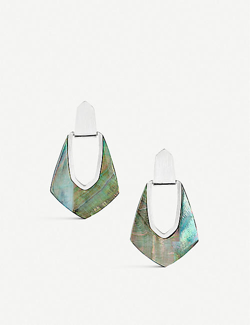 1122b12e8 KENDRA SCOTT Kensley silver-plated and mother-of-pearl earrings