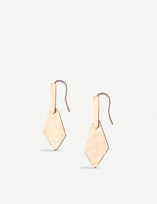 0ad895951f553e KENDRA SCOTT Gianna 14ct rose gold-plated drop earrings