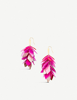 KENDRA SCOTT Jenni 14ct gold-plated brass multi-drop earrings