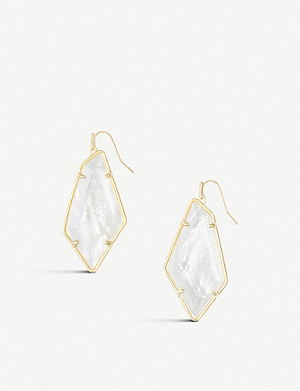 KENDRA SCOTT Emmie 14ct gold-plated brass and mother of pearl drop earrings