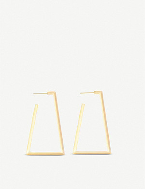 KENDRA SCOTT Easton 14ct yellow-gold-plated earrings