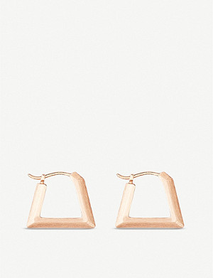 KENDRA SCOTT Renzo 14ct yellow gold-plated huggie earrings