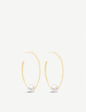 KENDRA SCOTT Regina 14ct gold-plated and pearl earrings