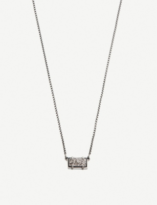 KENDRA SCOTT Pattie silver-plated and platinum drusy necklace