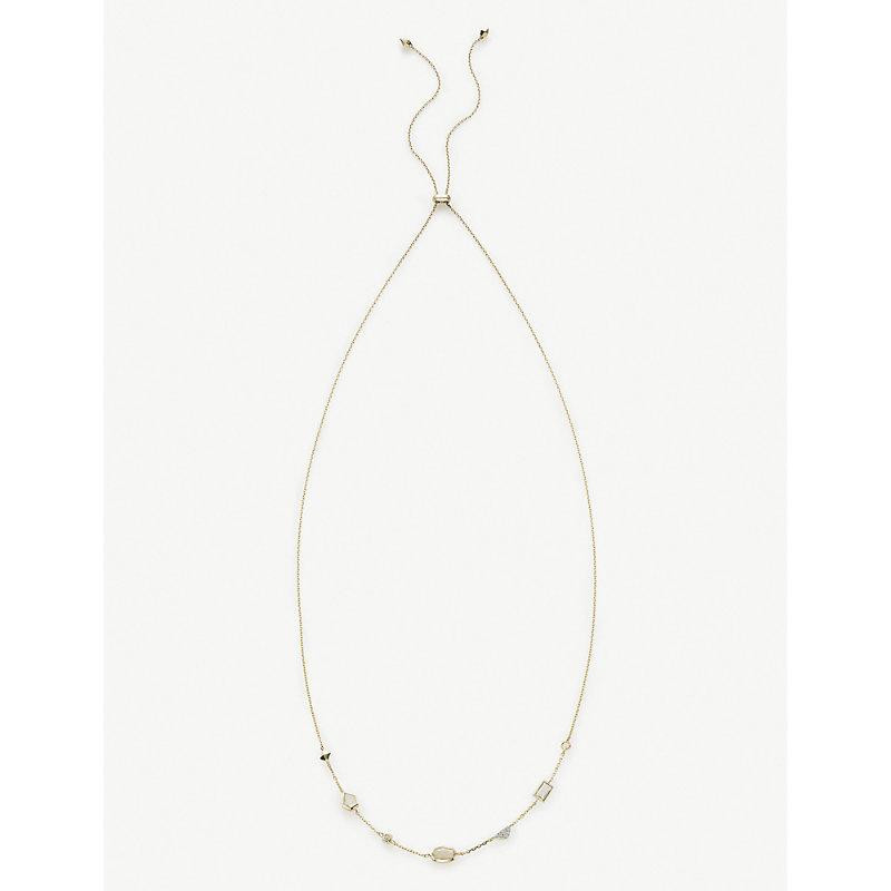KENDRA SCOTT | Alina 14ct-Gold And Multi Gemstone Necklace | Goxip