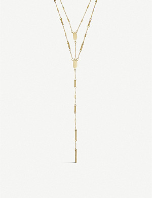 KENDRA SCOTT Adelia layered 14ct gold-plated necklace