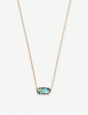 KENDRA SCOTT Ever 14ct rose gold-plated and abalone shell necklace