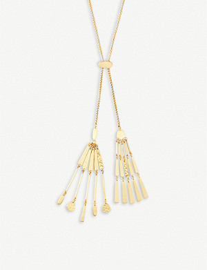 KENDRA SCOTT Lainey tasselled 14ct gold-plated necklace