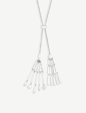 KENDRA SCOTT Lainey tasselled silver-plated necklace