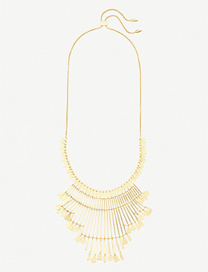 KENDRA SCOTT Lena 14ct gold-plated necklace