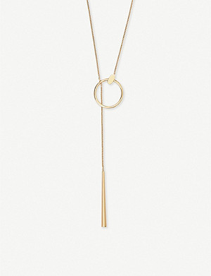 KENDRA SCOTT Tegan 14ct gold-plated necklace