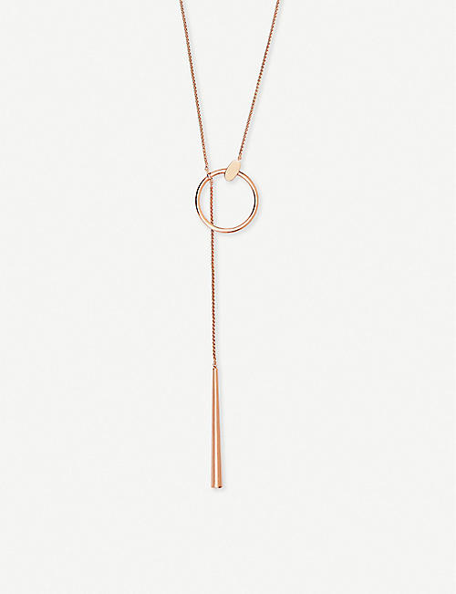 KENDRA SCOTT Tegan 14ct rose gold-plated necklace