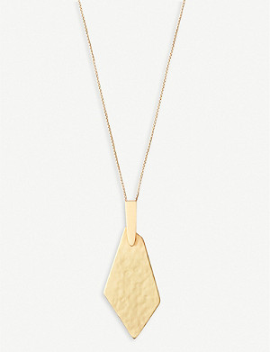 KENDRA SCOTT Brenton 14ct yellow-gold plated brass necklace