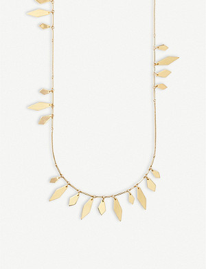 KENDRA SCOTT Blaine 14ct yellow-gold plated brass necklace