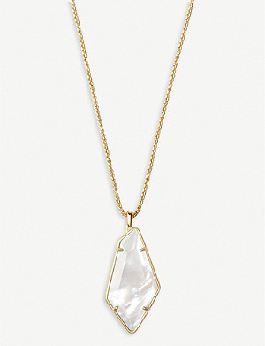 KENDRA SCOTT Lilith 14ct yellow gold-plated and mother-of-pearl necklace