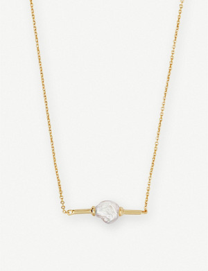 KENDRA SCOTT Emberly 14ct gold-plated and pearl necklace