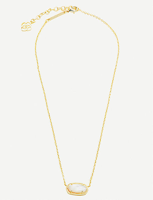 KENDRA SCOTT Elisa 14ct gold-plated and mother-of-pearl necklace