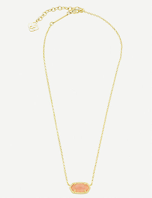 KENDRA SCOTT Elisa 14ct gold-plated and rose quartz necklace