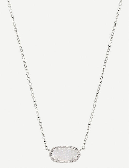 KENDRA SCOTT Elisa 14ct gold-plated iridescent drusy necklace
