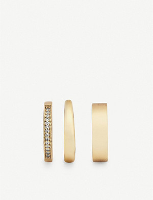 KENDRA SCOTT Tate 14ct gold-plated brass ring set