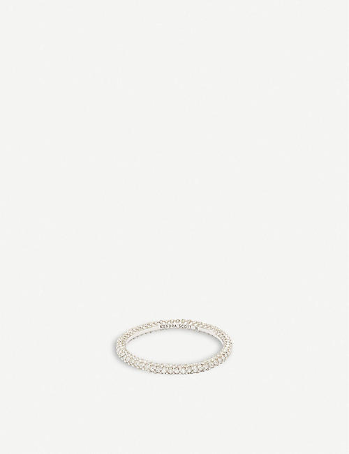 KENDRA SCOTT Remi 14ct white-gold and diamond ring