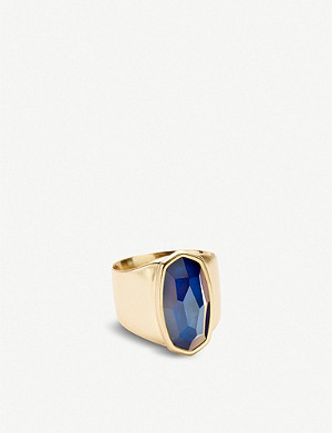 KENDRA SCOTT Leah 14ct yellow gold-plated mood ring