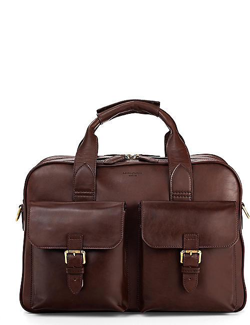 e0a55b84a3d ASPINAL OF LONDON Harrison leather overnight business bag
