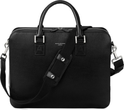 ASPINAL OF LONDON Mount street large saffiano leather tech bag