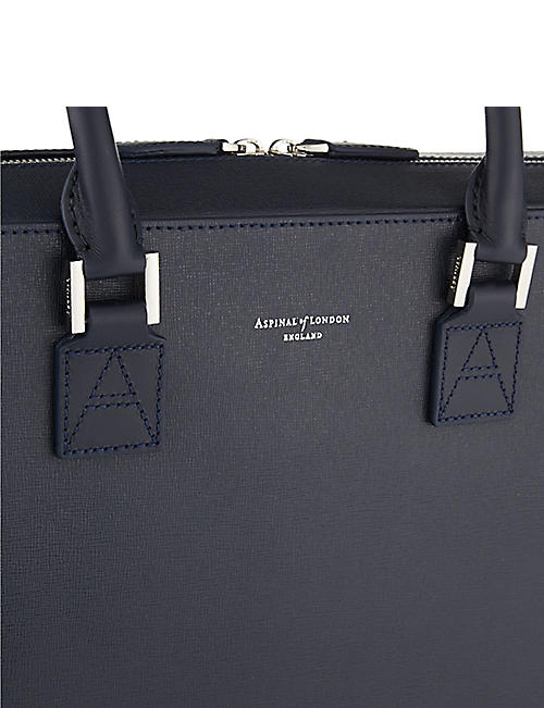 cf70adf29e ASPINAL OF LONDON Mount Street small saffiano leather tech bag