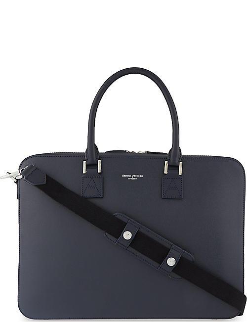 ASPINAL OF LONDON Mount Street small saffiano leather tech bag 53e0641907