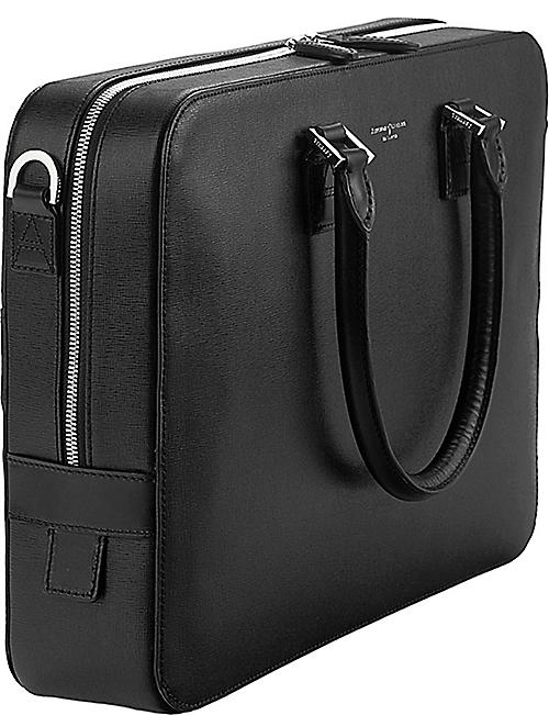 ASPINAL OF LONDON Mount Street small leather laptop bag