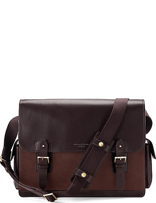 2338bae85da ASPINAL OF LONDON Shadow large leather messenger bag