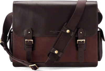 ASPINAL OF LONDON Shadow large leather messenger bag