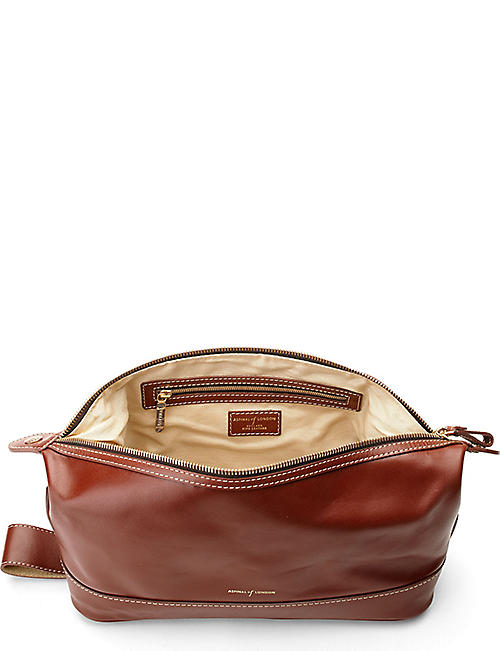 ASPINAL OF LONDON Men's classic leather washbag