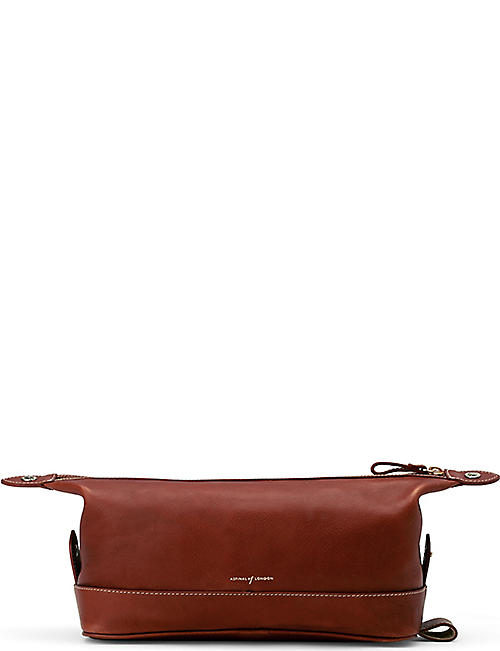 ASPINAL OF LONDON: Men's classic leather washbag