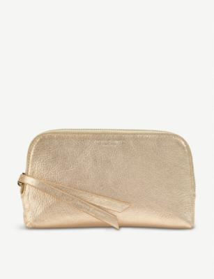ASPINAL OF LONDON Essential pebble-embossed leather cosmetic case