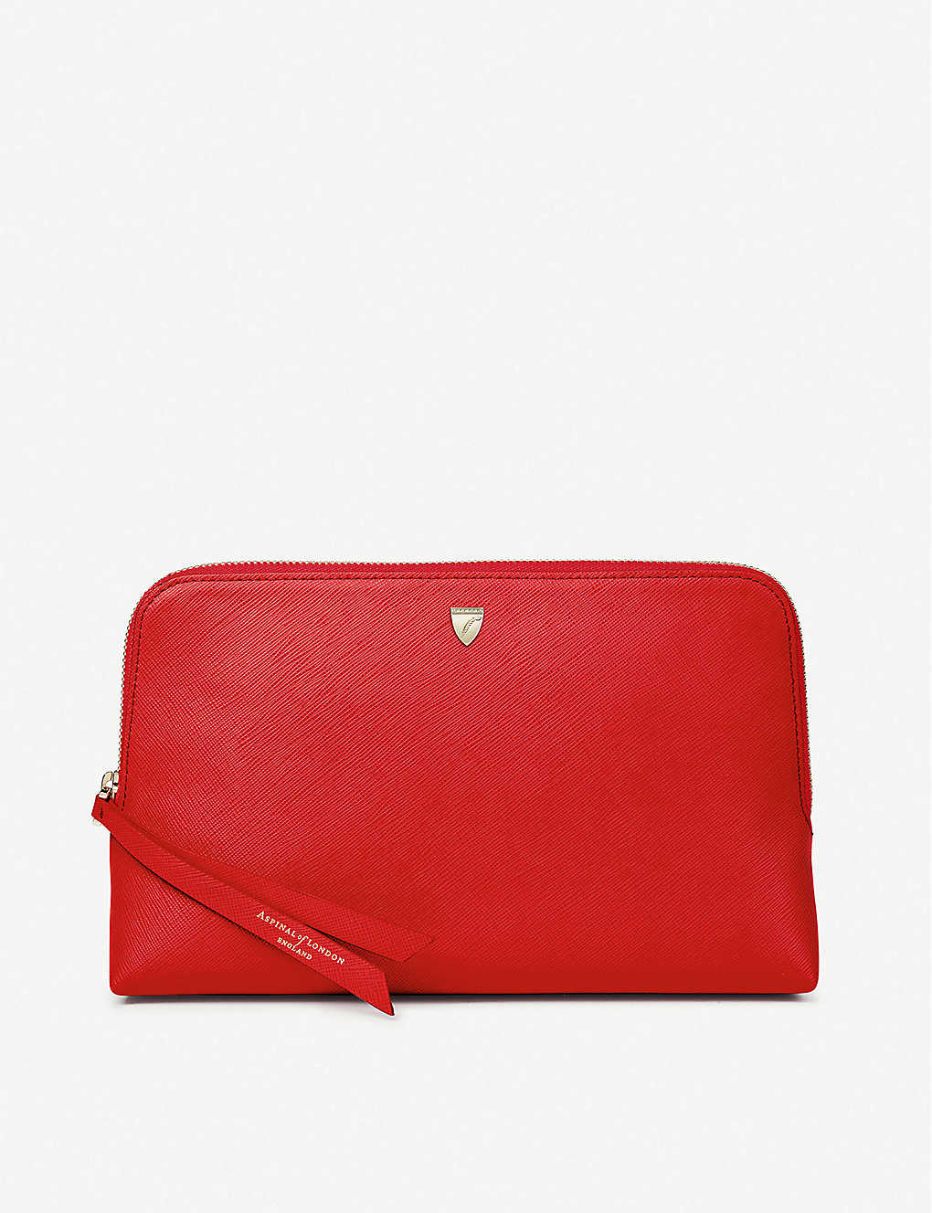 ASPINAL OF LONDON: Essential large grained-leather cosmetic case